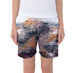 Natural Abstract Landscape Women s Basketball Shorts