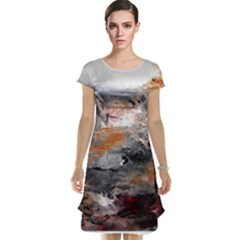 Natural Abstract Landscape Cap Sleeve Nightdresses