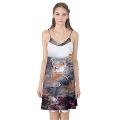 Natural Abstract Landscape Camis Nightgown