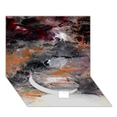 Natural Abstract Landscape No  2 Circle Bottom 3d Greeting Card (7x5)