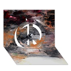 Natural Abstract Landscape No. 2 Peace Sign 3D Greeting Card (7x5)