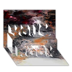 Natural Abstract Landscape No  2 You Rock 3d Greeting Card (7x5)