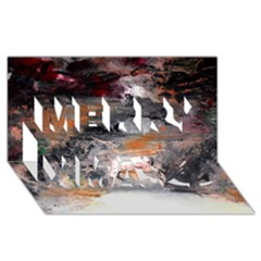 Natural Abstract Landscape No. 2 Merry Xmas 3D Greeting Card (8x4)