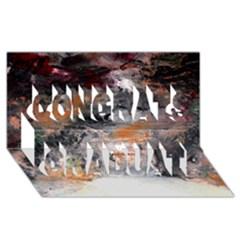 Natural Abstract Landscape No. 2 Congrats Graduate 3D Greeting Card (8x4)