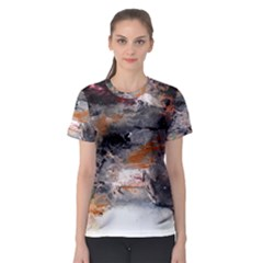 Natural Abstract Landscape No  2 Women s Sport Mesh Tees