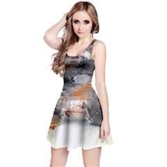 Natural Abstract Landscape No. 2 Reversible Sleeveless Dresses