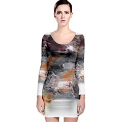 Natural Abstract Landscape No  2 Long Sleeve Bodycon Dresses