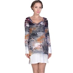 Natural Abstract Landscape No. 2 Long Sleeve Nightdresses