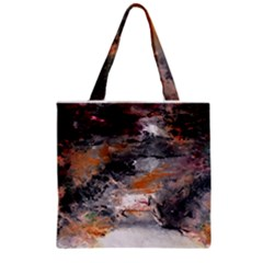 Natural Abstract Landscape No. 2 Zipper Grocery Tote Bags