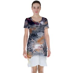 Natural Abstract Landscape No. 2 Short Sleeve Nightdresses