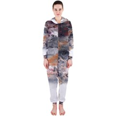 Natural Abstract Landscape No  2 Hooded Jumpsuit (ladies)
