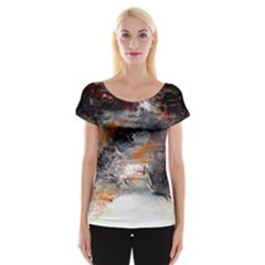 Natural Abstract Landscape No  2 Women s Cap Sleeve Top