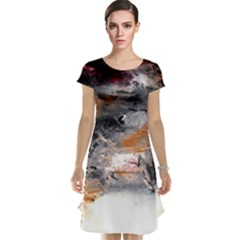 Natural Abstract Landscape No. 2 Cap Sleeve Nightdresses