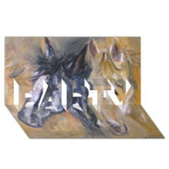 2 Horses Party 3d Greeting Card (8x4)