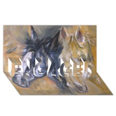 2 Horses Engaged 3d Greeting Card (8x4)