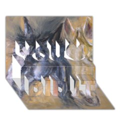 2 Horses You Did It 3d Greeting Card (7x5)