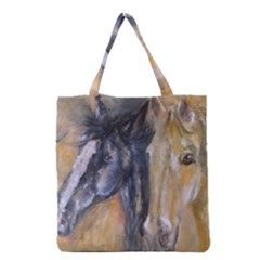 2 Horses Grocery Tote Bags