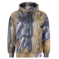 2 Horses Men s Zipper Hoodies