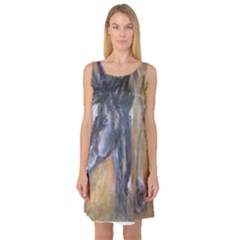 2 Horses Sleeveless Satin Nightdresses