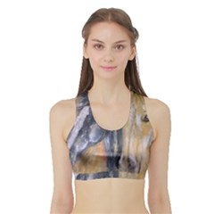 2 Horses Women s Sports Bra with Border