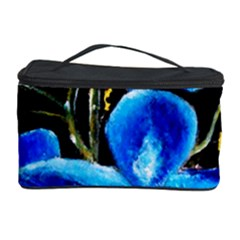 Bright Blue Abstract Flowers Cosmetic Storage Cases