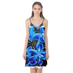 Bright Blue Abstract Flowers Camis Nightgown