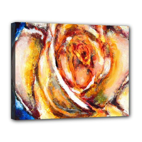 Abstract Rose Canvas 14  X 11
