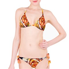 Abstract Rose Bikini Set