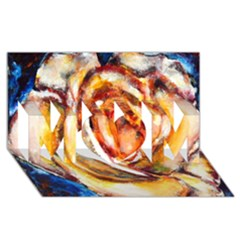 Abstract Rose Mom 3d Greeting Card (8x4)