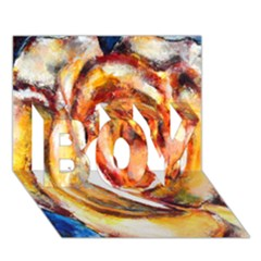 Abstract Rose BOY 3D Greeting Card (7x5)