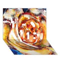 Abstract Rose LOVE 3D Greeting Card (7x5)