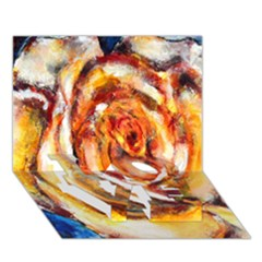 Abstract Rose LOVE Bottom 3D Greeting Card (7x5)