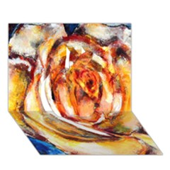 Abstract Rose Apple 3d Greeting Card (7x5)