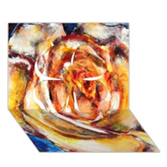 Abstract Rose Clover 3D Greeting Card (7x5)