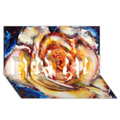 Abstract Rose Best Sis 3d Greeting Card (8x4)