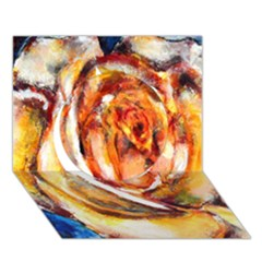 Abstract Rose Circle 3d Greeting Card (7x5)