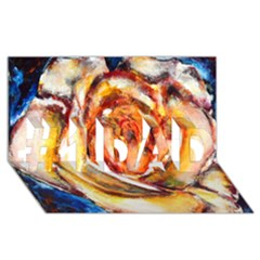 Abstract Rose #1 DAD 3D Greeting Card (8x4)