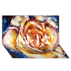 Abstract Rose Sorry 3d Greeting Card (8x4)