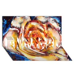 Abstract Rose ENGAGED 3D Greeting Card (8x4)