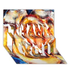 Abstract Rose THANK YOU 3D Greeting Card (7x5)