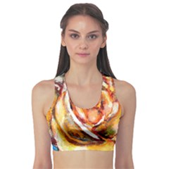 Abstract Rose Sports Bra