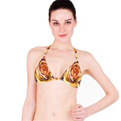 Abstract Rose Bikini Tops