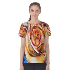 Abstract Rose Women s Cotton Tees