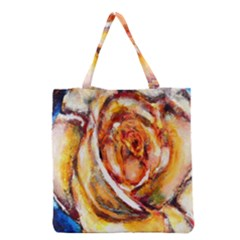 Abstract Rose Grocery Tote Bags