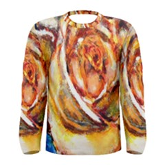 Abstract Rose Men s Long Sleeve T-shirts