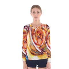 Abstract Rose Women s Long Sleeve T-shirts