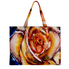 Abstract Rose Zipper Tiny Tote Bags