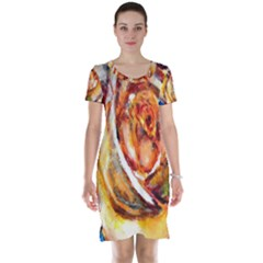 Abstract Rose Short Sleeve Nightdresses