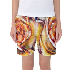 Abstract Rose Women s Basketball Shorts