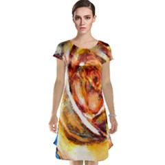 Abstract Rose Cap Sleeve Nightdresses